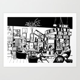 Cafe in Beijing  Art Print
