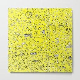 Yellow Sheep Lyons Metal Print