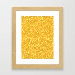 YELLOW DOTS Framed Art Print
