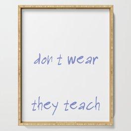 Teacher Hero Quote Graphic Serving Tray