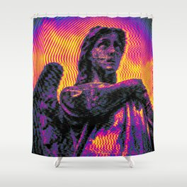 Wings of FM - Saturn Kat Shower Curtain