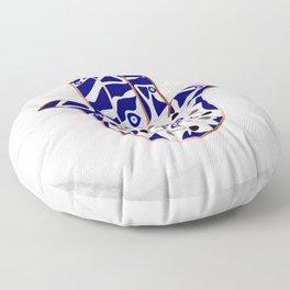Talk to the Evil Eye Hamsa Hand Floor Pillow