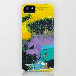 Whisper Yellow Abstract iPhone Case