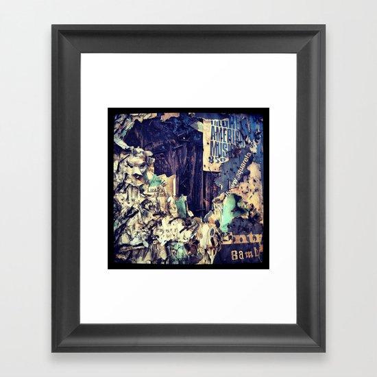 Post No Bills Framed Art Print