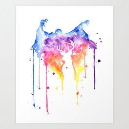 Dementor and Harry's Patronus Art Print