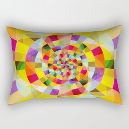Colorful Abstract Swirly Tune Design (Fancy Fresh And Modern Hippy Style) Rectangular Pillow