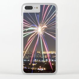 Fireworks. Clear iPhone Case