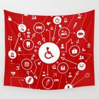 medicine Wall Tapestries featuring Medicine the scheme by aleksander1