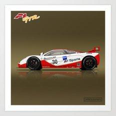 1996 McLaren F1 GTR #03R Art Print