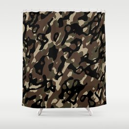 Camouflage Abstract Shower Curtain