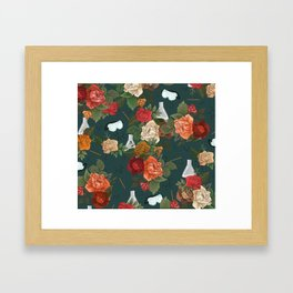 Chemistry Floral Framed Art Print