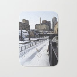Minneapolis, Minnesota Skyline Stone Arch Bridge Bath Mat