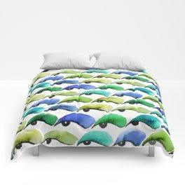 Eye Shadow (Green) Comforters
