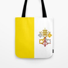Flag Of Vatican City Tote Bag