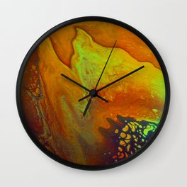 """Fire Petal"" Wall Clock"