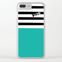striped_blackcat Clear iPhone Case