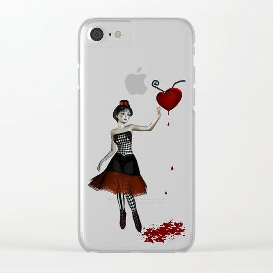 Bleeding heart Clear iPhone Case