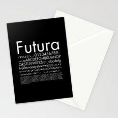 Futura (White) Stationery Cards