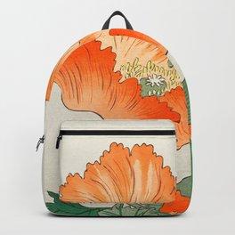 Blossoming Flower - Vintage Japanese Woodblock Print Art Backpack