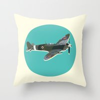 aviation Throw Pillows featuring A Brief History of Aviation by Simon Alenius