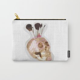 Skully Flower Carry-All Pouch
