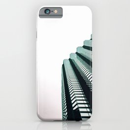 chicago look up architecture urban photography iPhone Case