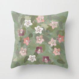 Flower Christmas Rose Throw Pillow