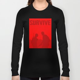 Minimalist Ellie and Joel ( The last of us ) Long Sleeve T-shirt