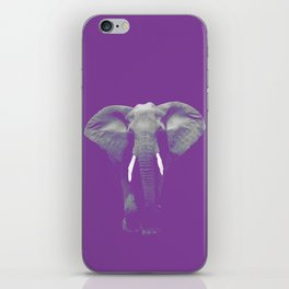 Purple Elephant iPhone Skin