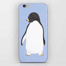 Penguin Love - Blue iPhone Skin