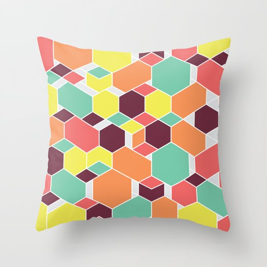 Hex P II Throw Pillow
