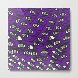 Freddie Eyeballs Ultraviolet Blue Purple Metal Print