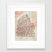 roman Framed Art Prints featuring roman colosseum  by Doomko