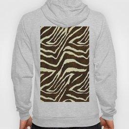 Animal Print Zebra in Winter Brown and Beige Hoody