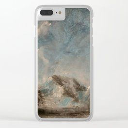 Winter Mountains Clear iPhone Case