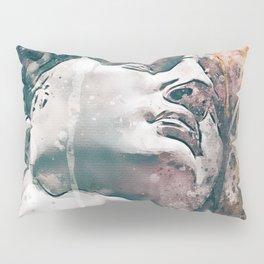 Watercolor Statue Of King David - Modern Gallery Art Pillow Sham