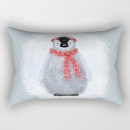 Chilly Little Penguin Rectangular Pillow