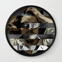 "Gustave Courbet ""The Desperate Man"" Self Portrait & James Stewart in Vertigo Wall Clock"