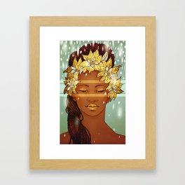 Poinsettia Portrait Framed Art Print