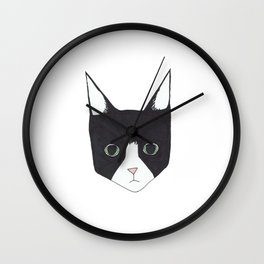 Henry the Tuxedo Cat Wall Clock