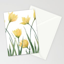 Yellow Woodland Tulips Stationery Cards