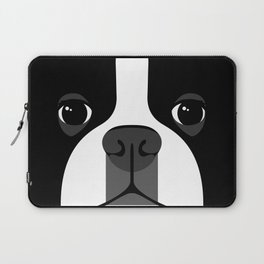 Boston Terrier Close Up Laptop Sleeve