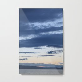 Vermont evening  sky over lake champlain  I Metal Print