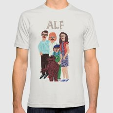 Alf LARGE Silver Mens Fitted Tee