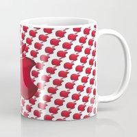 apple Mugs featuring Apple by JT Digital Art