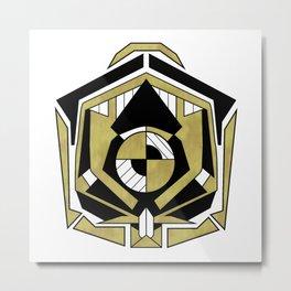 Cybernetic Apple 1 - Art Deco Design Metal Print
