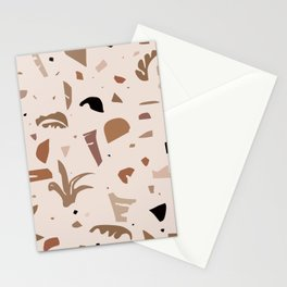 Modern Landscape / Abstract Neutral Shapes Stationery Cards