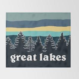 Great Lakes Tree Line Throw Blanket