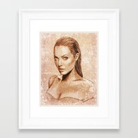 angelina jolie Framed Art Prints featuring Angelina Jolie by Renato Cunha