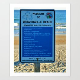 Beach Rules Art Print